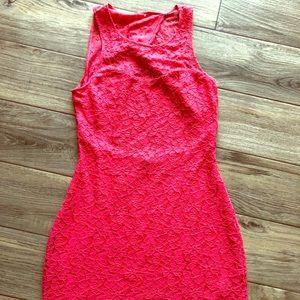 Express open back lace dress